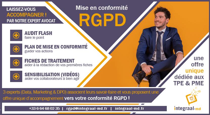 Offre spéciale mise en conformité avec le RGPD pour les TPE/PME