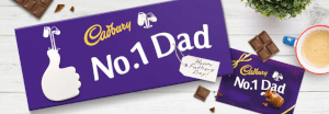 Cadbury packaging personnalise dad number1