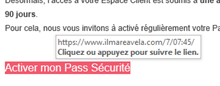 Tentative de phishing des clients de la Société Générale : survol des liens hypertextes
